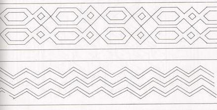 Раскраска геометрический орнамент 138